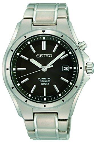 Seiko Hommes Analogique Cinétique Montre avec Bracelet en Acier Inoxydable SKA763P1