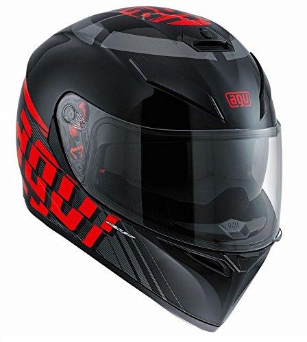 AGV 0301A2EY_005 Motorradhelm, Mehrfarbig (RAV Schwarz/Weiß/Rot), ML (Rot Candy Und Schwarz)
