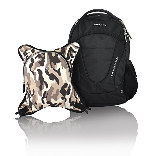 obersee-oslo-mochila-para-panales-con-bolsa-isotermica-separable-negro-y-camuflaje