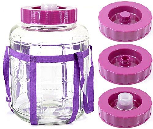 Universelles Glas Weinballon mit Gärsystem Glasballon Einmachtopf 8 L