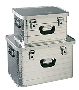 Enders Aluboxen Set 29 und 63 Liter + Schloss Set, hochwertig verarbeitet, mit Moosgummidichtung, Alukiste flexibel verwendbar als Transportbox und Lagerbox - Alukoffer Lagerkisten Metallkiste Metallbox Alubox Alukisten