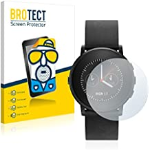 2x BROTECT Matte Protector Pantalla para Pebble Time round Protector Mate, Película Antireflejos