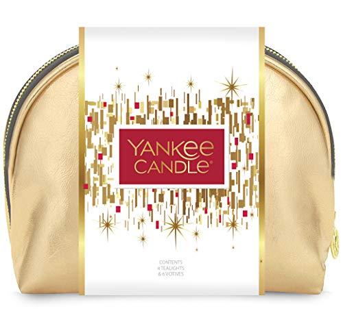 Scheda dettagliata YANKEE CANDLE Set Regalo di Natale, Confezione con 2 Candele in giara, 12 Tea Light e 6 Candele Votive profumate