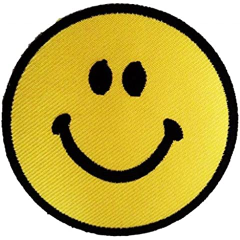 Cara sonriente Cara Feliz Pensamiento possitive Hippie Patch '7.5 x 7.5 cm' - Parche Parches Termoadhesivos Parche Bordado Parches Bordados Parches Para La Ropa Parches La Ropa Termoadhesivo Apliques Iron on Patch Iron-On