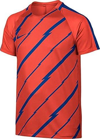 Nike et nK Dry sQD SS GX T-shirt à manches courtes, Homme XL Orange (Max Orange / Paramount Blue / Paramount Blue)