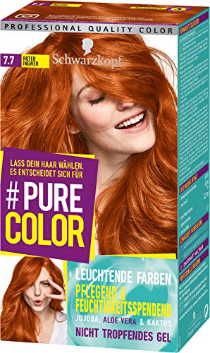 Schwarzkopf Pure Color Coloration 7.7 Roter Ingwer, 1er Pack (1 x 143 ml)