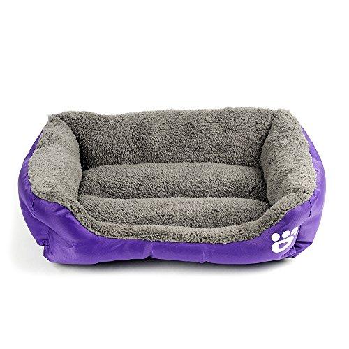 Cucha para perros, gatos y animales, sofá cama, con cojín, suave, cálida...