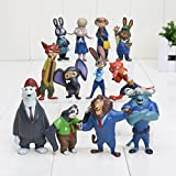 By channeltoys - Lot de 12pcs figurine zootopie - generique - PVC - 5/7cm - Judy Nick wilde Chief bogo Mayor Lionheart - Neuf