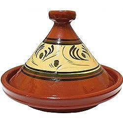 Tajín marroquí Tánger glaseado diámetro 34 cm