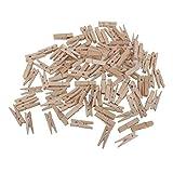 ROSENICE Mini Holzklammern Deko Klammern Wäscheklammern Fotopapier Peg 3.5 cm - 100 Stücke