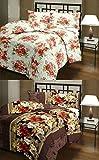 CarryWishiya Flower Prints Reversible Double Bed AC Blanket \ Dohar Combo Set Of 2 Pc
