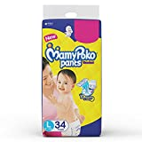 Mamy Poko Standard Pant Style L Diapers (34 Pieces)