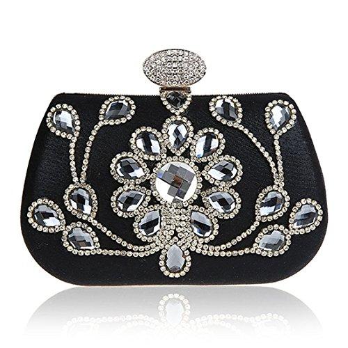 HT Evening Bag, Poschette giorno donna Black