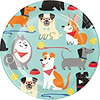 Dog Party Dessert Plates, 8 Count