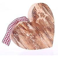Holzdeko Herz groß, Ausführung Poliert, Weihnachtsdeko, Holzherz Weihnachten