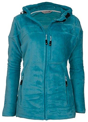 LifeLine Fleecejacke Damen Modell Erica | Kuschelig Warme Frühlings-Jacke Aus Teddy-Fleece | Sweatjacke | Hoher Kragen