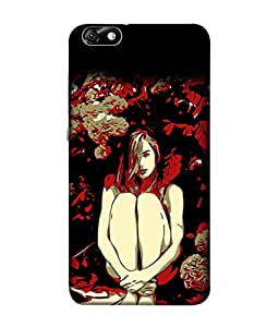 Fuson Designer Back Case Cover for Huawei Honor 4X :: Huawei Glory Play 4X (Leaves Plants Tree Art Artist Young Professional)