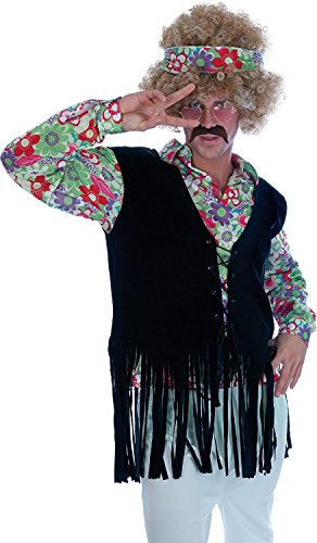Mens 1960's Hippie Guy Fancy Dress Costume Size 34/36 Small (1960's Mens Fancy Dress Kostüm)