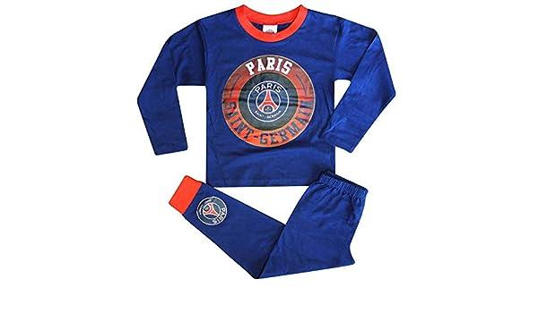 Paris St Germain Pyjama PSG pour Enfant avec Blason 100/% Coton