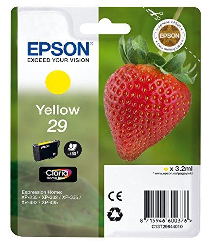 Epson 29 Serie Fragola, Cartuccia Originale Getto d'Inchiostro Claria Home, Formato Standard, Giallo, con Amazon Dash Replenishment Ready