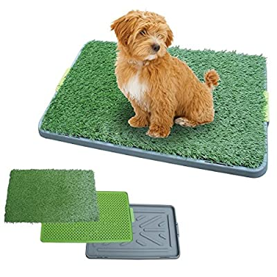 Large Indoor Pet Toilet Dog Grass Restroom Potty Training with Tray and Loo Pad