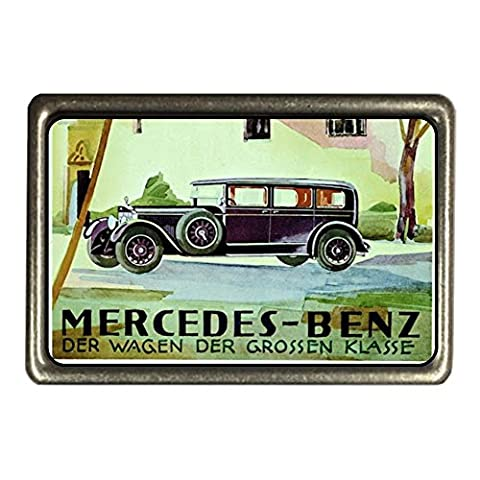 cadora Boucle de Ceinture Buckle Vintage Retro Publicité MERCEDES-BENZ la voiture la Grande Classe