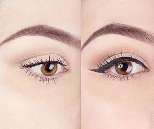 Eyeliner Stamp – Wingliner by Lovoir/Vogue Effects Black, waterproof, smudgeproof, winged long lasting liquid eye liner pen, Vamp style wing, 2 Pens In A Pack (12mm Vintage)