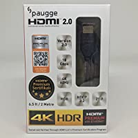 Paugge V2.0 Premium Sertifikalı 4K Ultra HD 4096x2160 60Hz 18Gbps Bandwith HDR Destekli HDMI Kablo (2 Metre)