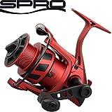 Spro The Legend Red Arc 3000 Angelrolle, Stationärrolle zum Spinnangeln, Spinnrolle zum Angeln auf Zander & Hechte, Zanderrolle