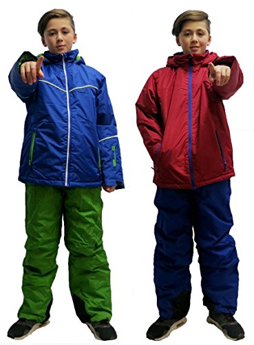 Kinder Jungen 2tlg SKIANZUG Schneeanzug Skijacke Skihose Schneejacke Schneehose