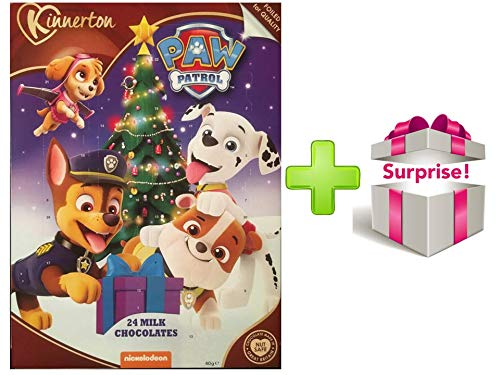 "BM UK Calendario de Adviento 2018 ""Paw Patrol de Chocolate con Leche y Regalo Sorpresa"