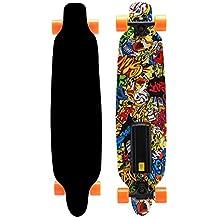 anshang–Skateboard Eléctrico Alta Velocidad Highway, diseño de monopatín longboard eléctrico motorizado con LED remoto inalámbrico...