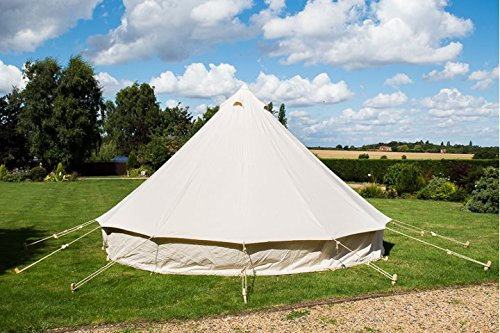 4M Bell Tent With Chimney Fitting Canvas Waterproof Rot-proof 4