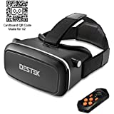 "DESTEK V2 Gafas de Realidad Virtual con Bluetooth Remote para 360 ° Videos Immersive / Cine / Juegos de 4-5.7"" iPhone 5 6s Plus Samsung S6 Edge NOTE 5 LG G3 G4 Nexus 5 6P"