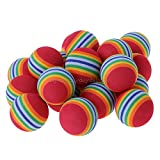 HATCHMATIC 20pcs Regenbogen-Schaum-Onge Dropship Indoor Pract Golfbälle Trainingsball Dia. 40mm N06