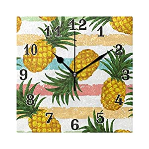 funnyy Reloj de Pared Cuadrado