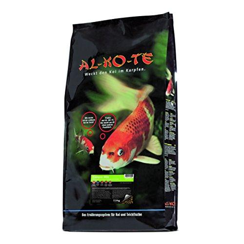 AL-KO-TE, 3-Jahreszeitenfutter für kleine Kois, Frühjahr bis Herbst, Schwimmende Pellets, 6mm, Hauptfutter Conpro Mix, 7,5 kg