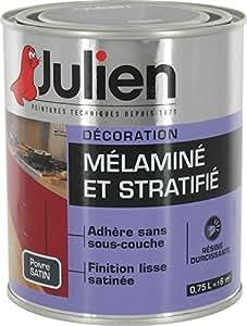 Peinture mélaminé et stratifié - 0.75 L - satin - poivre