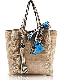 Handbag For Women Diler Women Top Handle Satchel Handbags Shoulder Bag Messenger Tote Bag Purse Camel