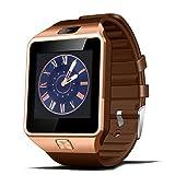 COLORFUL_Bluetooth Smart Watch DZ09 GSM Smartwatch mit Kamera für Android iOS (Gold)