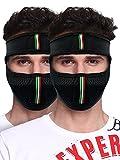 #8: Big Tree® Pro Bike Riding & Cycling Anti Pollution Dust Sun Protecion Half Ninja Face Cover Mask (Black) (Pack of 2)