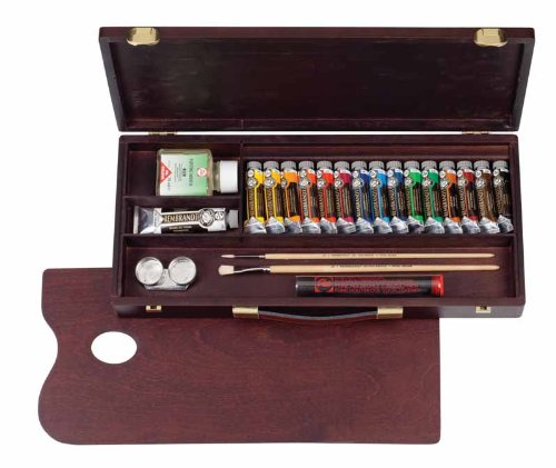 Cheapest Price for REMBRANDT WOODEN ARTISTS' BOX TRADITIONAL OIL PAINT SET Discount