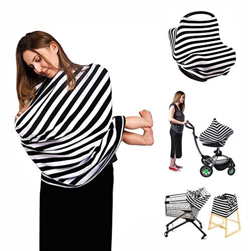 Neufashion Baby Auto Himmel Stillen Cover Schal Baby Sonnensegel für Kinderwagen Multi Verwendung dehnbar Cover für Stillen Geschenk für Jungen Mädchen