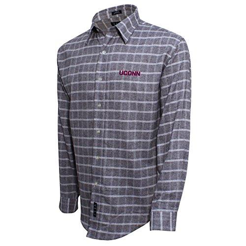Gebürstete Baumwolle Check Shirt, herren, Brushed Cotton Check Shirt, Grau/Weiß, X-Large