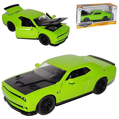 dodge-challenger-srt-hellcat-lc-coupe-grun-schwarze-motorhaube-ab-2008-1-24-jada-modell-auto-mit-ind