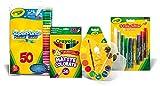Acquista Crayola - OFFERTA SPECIALE - Kit Deluxe Colouring (include: 1 confezione da 50 pennarelli, 1 confezione di 36 matite colorate, 1 confezione di 12 acquarelli, 1 confezione di 9 colle glitter colorate)
