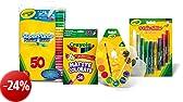 Crayola - OFFERTA SPECIALE - Kit Deluxe Colouring (include: 1 confezione da 50 pennarelli, 1 confezione di 36 matite colorate, 1 confezione di 12 acquarelli, 1 confezione di 9 colle glitter colorate)