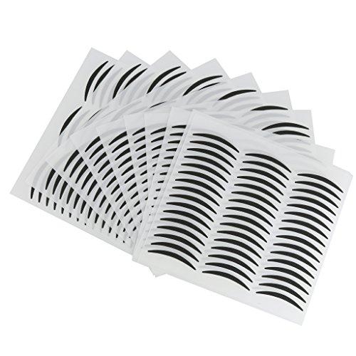 240 Paires Papier Noir Invisibles Double Paupière Oeil Bande Autocollants - Petits