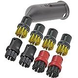 Spares2go Dampfreiniger-Detail-Aufsatz, Nylon- und Drahtbürstendüsen für Kärcher Dampfreiniger