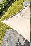 Outent® Sonnensegel 3,6 x 3,6 x 3,6m wasserabweisend Sonnenschutz UV-Schutz beige - 7
